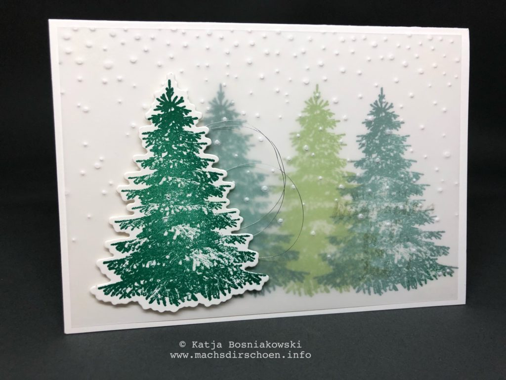 Persönliche Weihnachtsgrüße.Weihnachtsgrüße 2018 Mit Dem Produktpaket Winterwald Stampin Up
